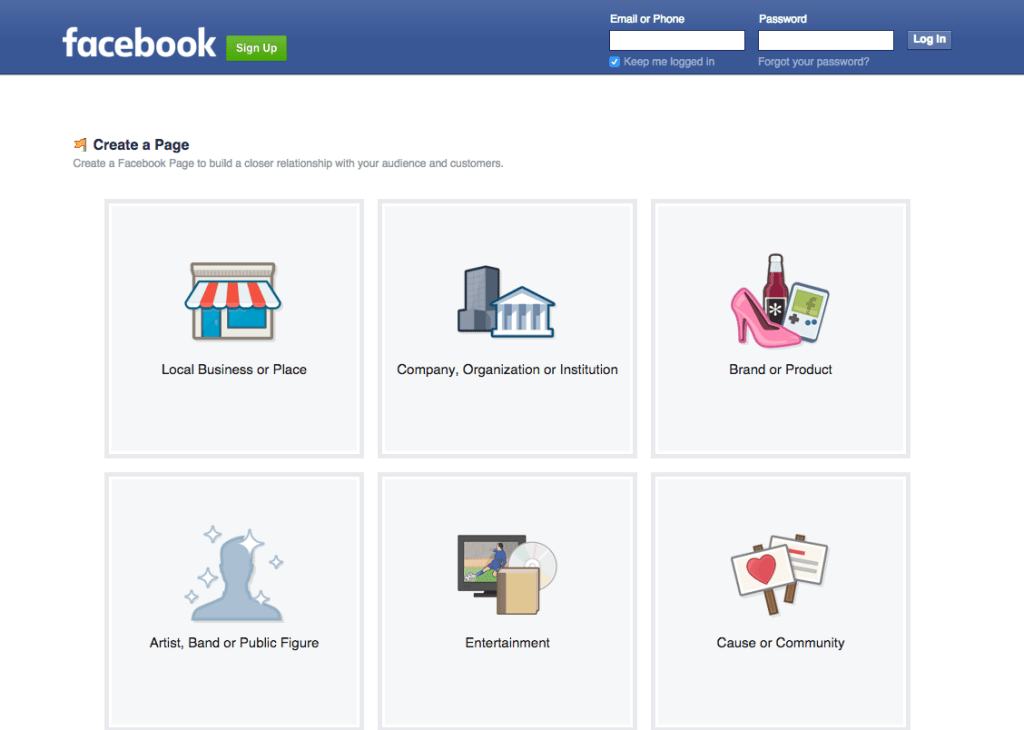 Facebook Business Page Setup - Step #1