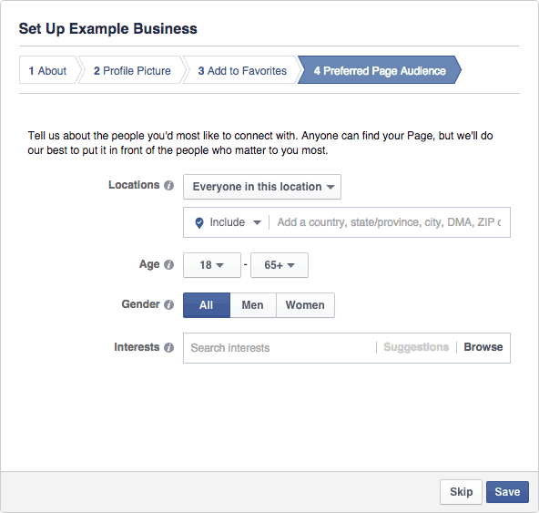 Facebook Business Page Setup - Step #2.4